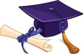 Graduation diploma,cap and tassel