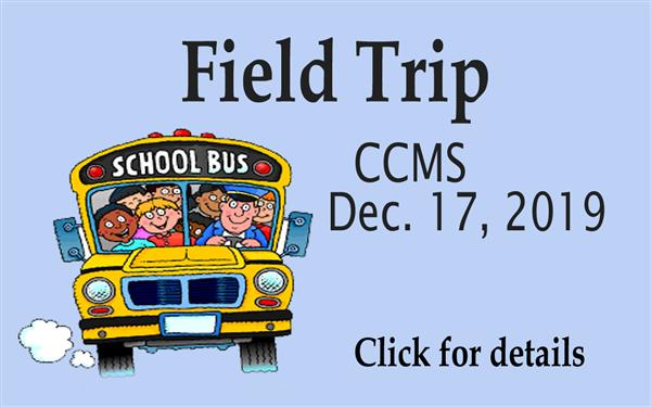 School Bus with words CCMS Field Trip