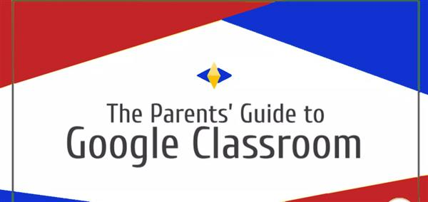 Image of diamond with words, Parents guide to Google Classroom
