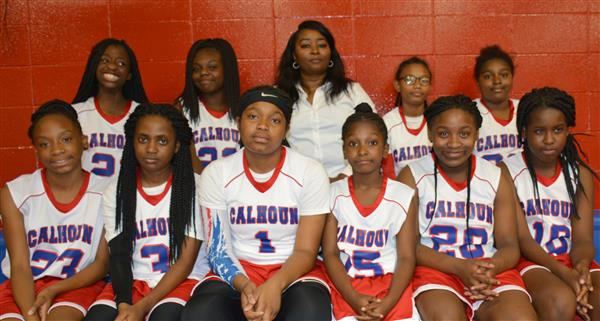 Team picture of the CCMS Girls Basketball Team